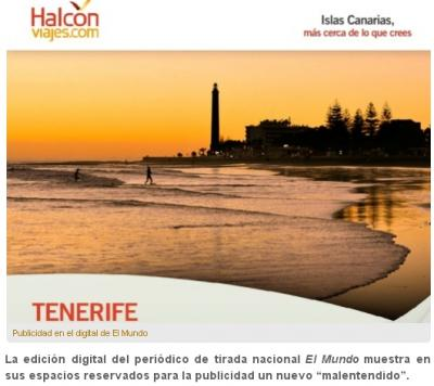 ¿Otro 'error' para viajar a Tenerife?
