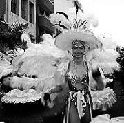Santa Catalina en blanco y negro