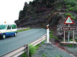 La vía Agaete-La Aldea se cierra al tráfico durante tres meses