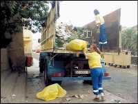 Transitar la ciudad sorteando basura