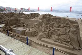 75.000 personas han visitado ya el belén de arena