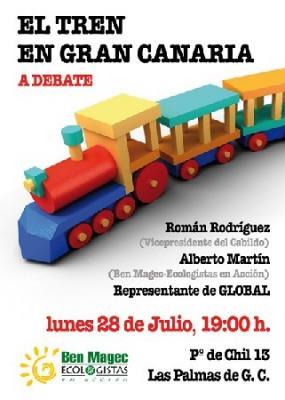 """El Gobierno de Canarias en Tenerife se niega a sufragar el tren de Gran Canaria porque dice que """"la red ferroviaria es cosa del Estado"""""""