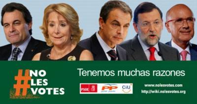 """El movimiento """"NoLesVotes"""" pretende promover el voto responsable"""