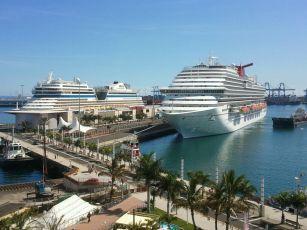 Gran Canaria se acerca rápidamente a Tenerife en cruceros