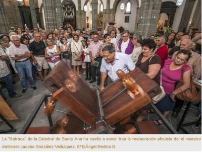 La matraca vuelve a sonar en la Catedral de Canarias
