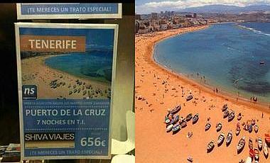 Detectadas 16 webs que venden Tenerife con imágenes de Gran Canaria