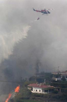 Controlado el incendio forestal de Gran Canaria
