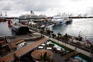 Cuatro cruceros traen 8.000 turistas a la capital grancanaria
