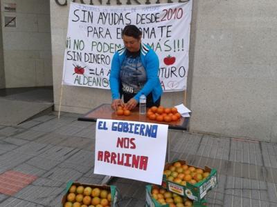 Huelga de hambre por la supervivencia del tomate en La Aldea
