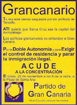 Manifestación hoy lunes 29 de noviembre contra la marginación de Gran Canaria