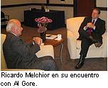 Melchior invita al ex-vicepresidente estadounidense Al Gore al Salón Internacional de la Cooperación