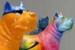 Perros decorados con sinfín de colores y formas poblarán la capital grancanaria